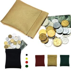 Women Men Small Mini Short Wallet Bag PU Leather Coin Purse New Children's Wallet Solid Color Purses For Women Coins Kids Wallet