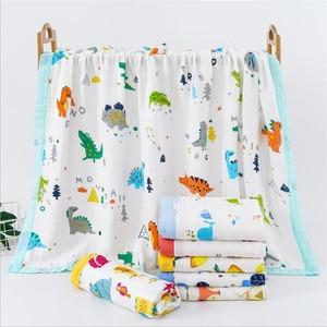 Image 1 - 29 conceptions 4 et 6 couches doux mousseline bambou coton enfants enfants lit couverture nouveau né dormir recevoir bébé couverture Swaddle