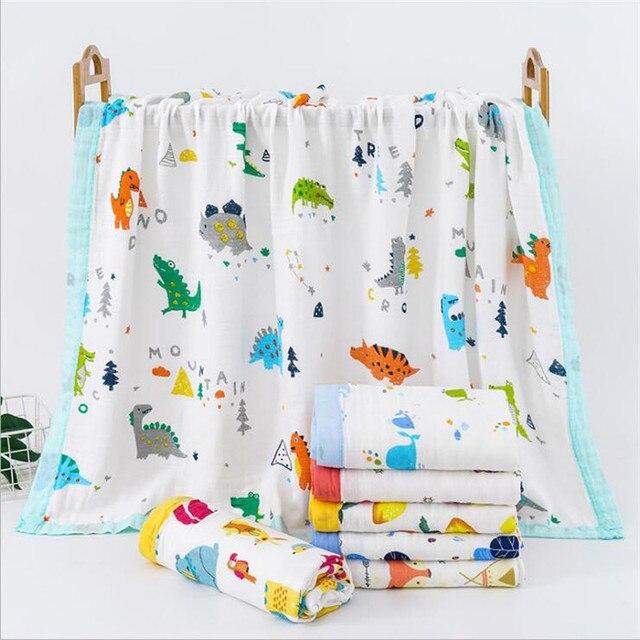 29 conceptions 4 et 6 couches doux mousseline bambou coton enfants enfants lit couverture nouveau né dormir recevoir bébé couverture Swaddle