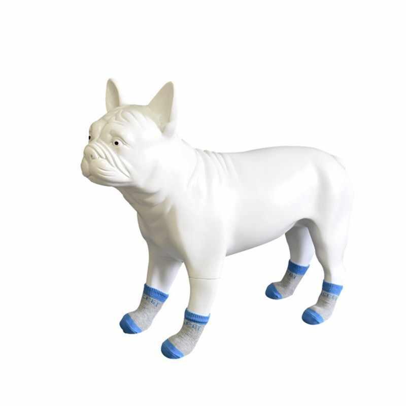 4 개/대 애완 동물 코 튼 양말 고양이와 개 실내 자동차 스크래치 방지 코 튼 양말 안티 슬립 스키드 하단 양말 패션 애완 동물 양말