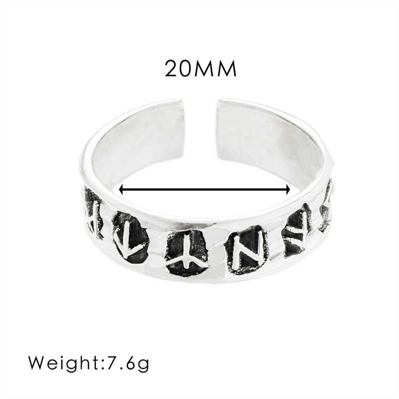 YOBEST פאנק ויקינג מזל רונה אירופאי ואמריקאי סגנון טבעת לגברים ונשים תכשיטים