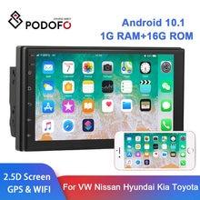 Podofo 2 din android 10.1 rádio do carro gps autoradio 2din reprodutor multimídia para vw ford nissan hyundai kia toyota lada peugeot