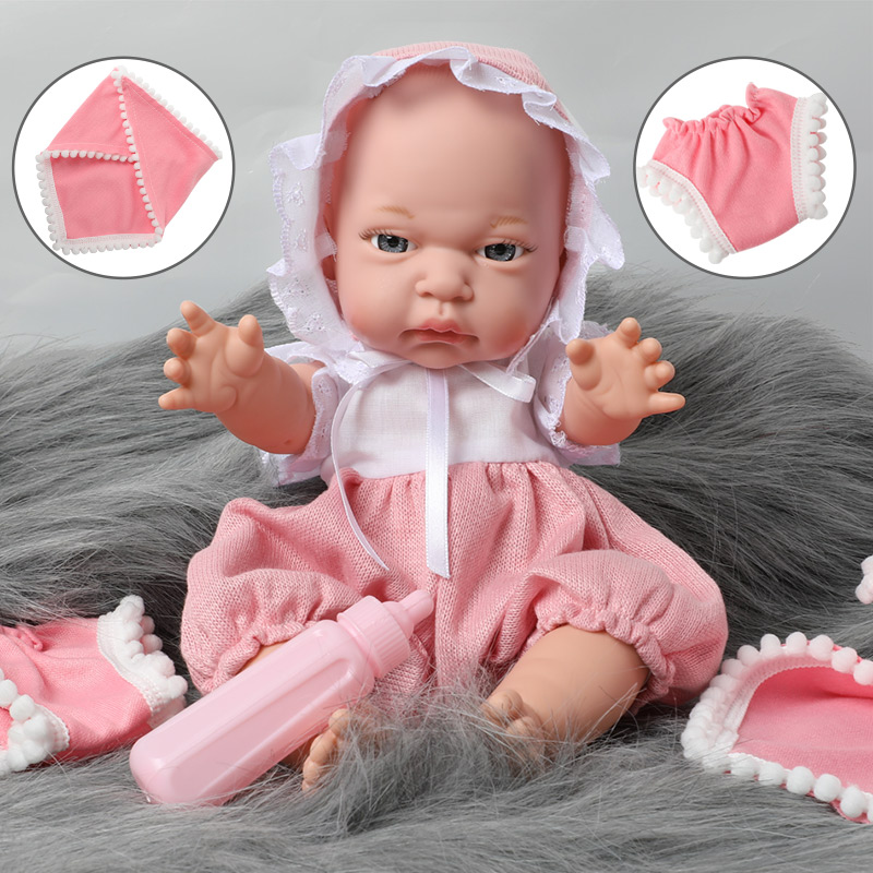 12 inch reborn bebe simulation waterproof Silicone newborn 30.5cm Realistic Baby Doll feeding bottle set for Toys children