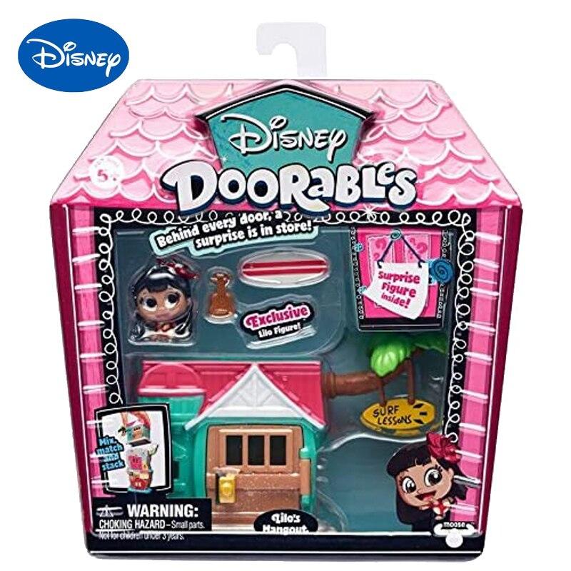 Disney Doorables Frozen Elsa Olal Mickey Minnie Judy Pinocchio Rapunzel Alice Snow White Belle Princess Blind Box Girl Kids Toys 11