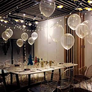 Image 4 - 5/10/12/18/24/36 インチ厚さの透明なラテックス風船透明風船ウェディングパーティー誕生日デコレーションインフレータブル空気ボール