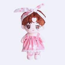 3PCS/Suit 20cm Kpop EXO WannaOne JungKook KangDaniel Plush Doll Clothes Slip Dress Headband Bag Doll's Accessories Outfit Toys(China)