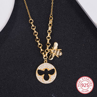 925 sterling silver female necklace pendant fashion personality bee styling jewelry hot birthday gift 2019 new hot
