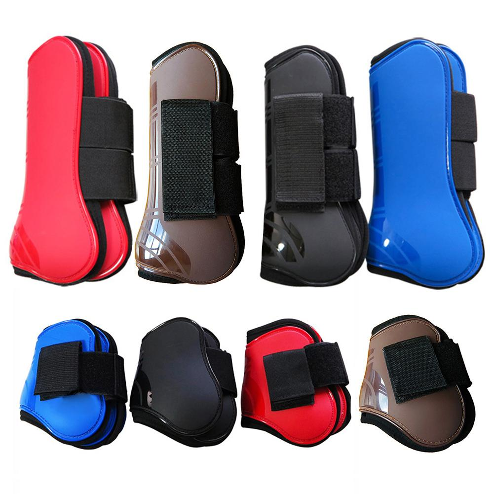 4PCS/Set Horse Guard Tendon Horse Guard Fetlock 4 Colors PU Durable Riding Equestrian Horse Racing Jump Horse Leg Guardat