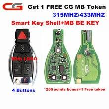 Cg original cgdi mb ser chave pro (1 mb livre token) 433/315mhz interruptor v1.2 inteligente chave 3/4 botões com logotipo para mercedes-benz