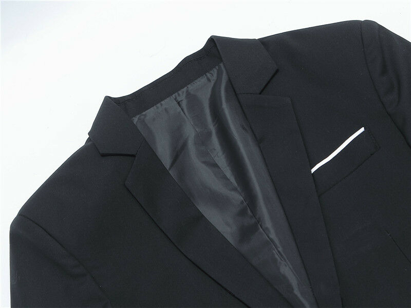 Hot sale Mens Korean slim fit arrival cotton blazer Suit Jacket black blue  plus size s to 4XL Male blazers Mens coat Wedding 4