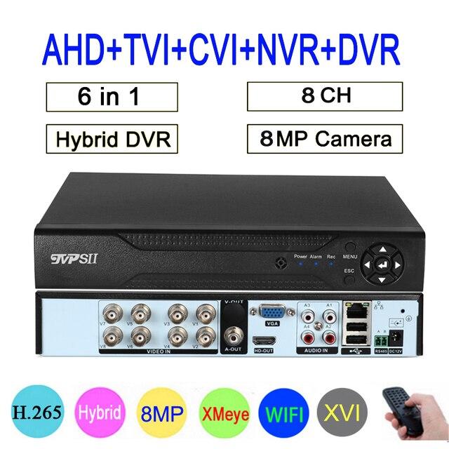 リモコンオーディオ顔検出 Hi3531D 8MP 4 18k xmeye 8CH 8 チャンネルで H.265 + ハイブリッド同軸 wifi 6 1 tvi cvi nvr ahd dvr