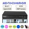 Remote Control Audio Face Detection Hi3531D 8MP 4K Xmeye 8CH 8 Channel H.265+ Hybrid Coaxial WIFI 6 in 1 TVI CVI NVR AHD DVR