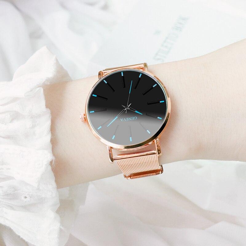 2019 Women Men Watches Relogio Masculino Simple Stainless Steel Mesh Quartz Wristwatches Fashion Clock Ladies Watch Montre Femme