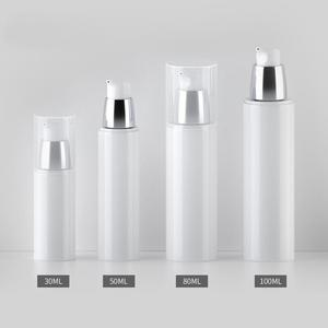 Image 3 - 50 unids/lote 30ml 50ml 80ml 100ml PP botella portátil de viaje sin aire botella con bomba de vacío loción botella utilizada para cosméticos de alta calidad