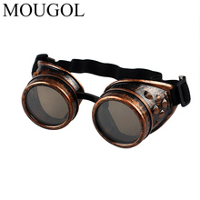 MOUGOL Sunglasses Vintage Style Steampunk Goggles Welding Punk Glasses Cosplay Freeshipping&Wholesale wholesale Brand Designer