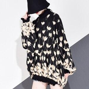 Image 3 - XITAO 쉬폰 인쇄 패턴 블라우스 패션 새로운 여성 2020 봄 풀 슬리브 풀오버 우아한 소수 캐주얼 셔츠 GCC3233