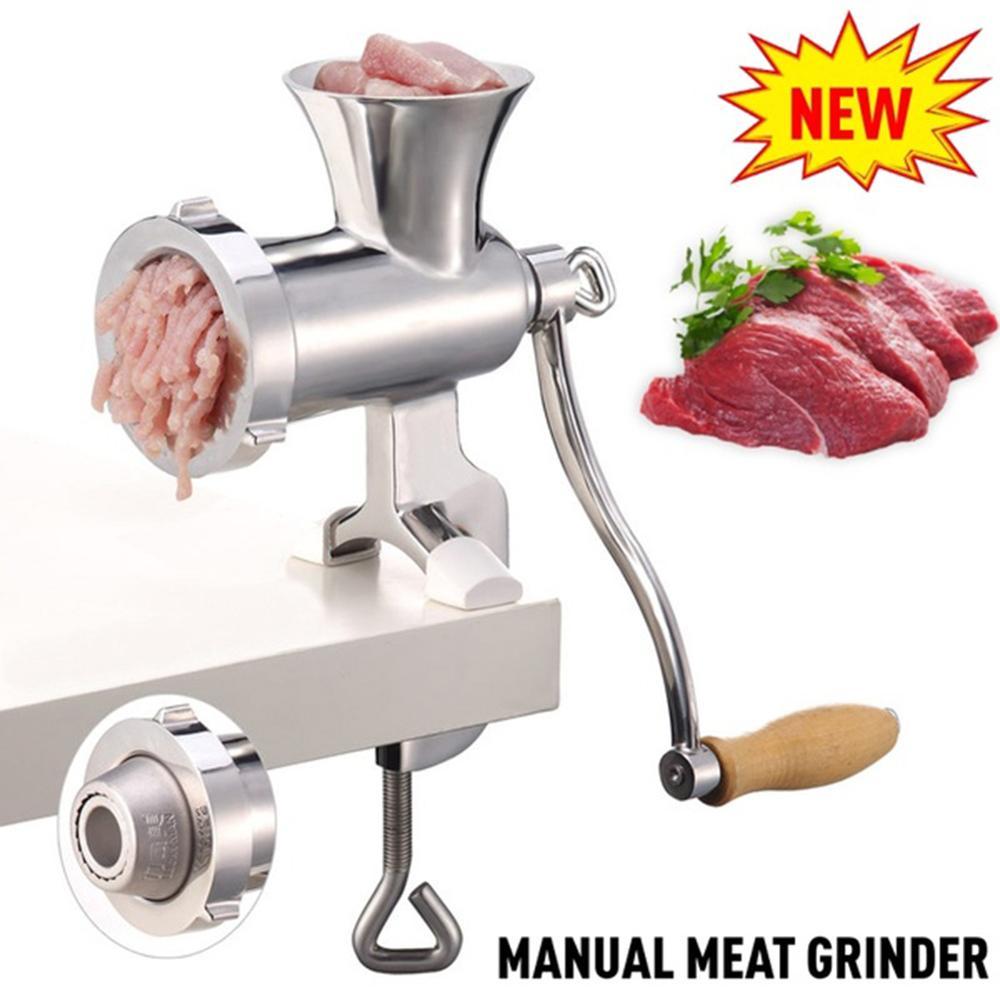 Cuisine multifonction main manivelle hachoir à viande saucisse nouilles broyeur manuel hachoir à viande processeurs alimentaires