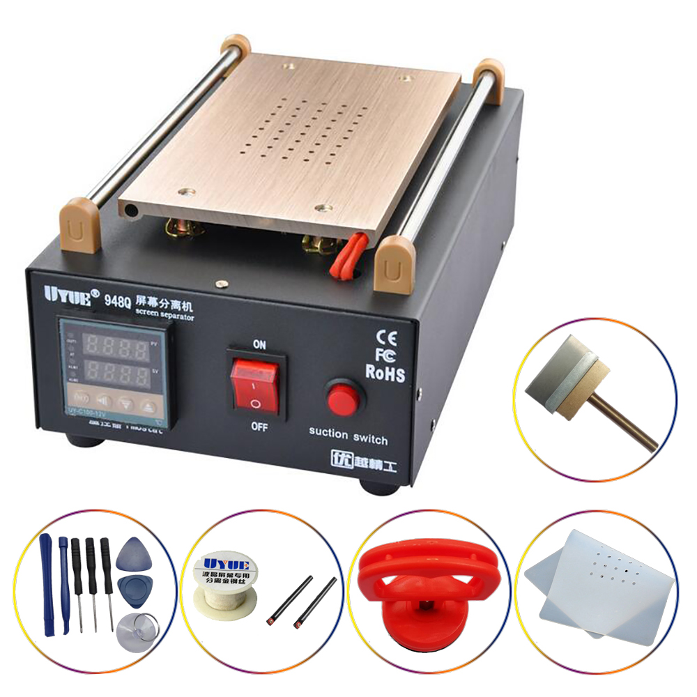 Glass LCD touch screen separator UYUE 948Q built-in pump vacuum maximum 7 inch mobile phone disassembly and maintenance tools