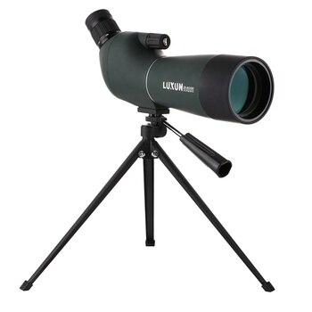 Luxun 20-60X60 Hd Waterproof Shockproof Sightseeing Hunting Monocular for Bird Watching Spotting Scope Withtripod