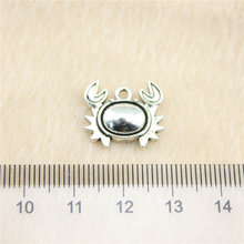 Retail Display 1 Piece 16x15mm Crab Charms Metal Pendant Hot Sale(China)