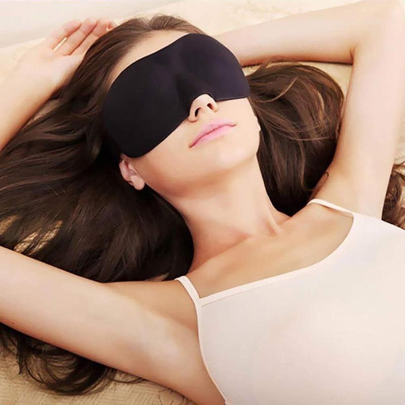 1pcs 3D Sleep Mask Natural Sleep Eye Mask Visor Shadow Cover Eye Patch, Men And Women Laptop Eye Patch Band