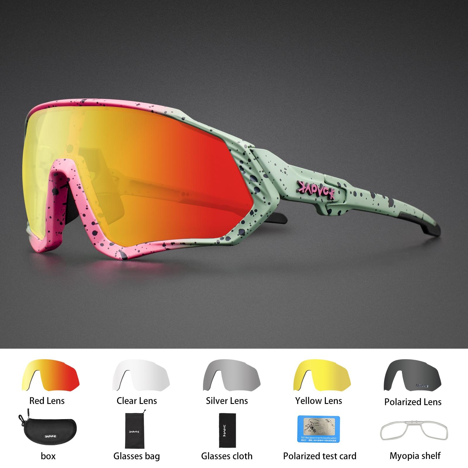 Kapvoe Bike Sunglasses Motorcycle Fishing Glasses Cycling MTB Road Eyewear Polarized Bicycle Glasses For Men Women Sport Goggles