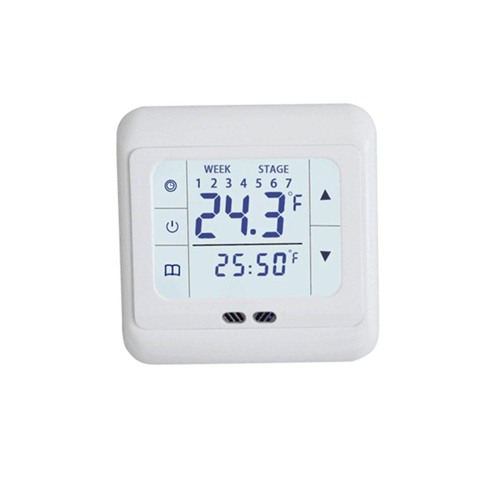 Терморегулятор с сенсорным экраном термостат для теплого пола электрическая система отопления регулятор температуры с замком для детей|Умная система управления температурой|   | АлиЭкспресс