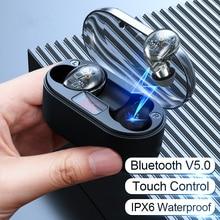ハイファイワイヤレス Bluetooth イヤホン Huawei 社 P30 プロ P20 Lite メイト 20 10 P10 Eaarbud スポーツヘッドセットとマイク電源銀行