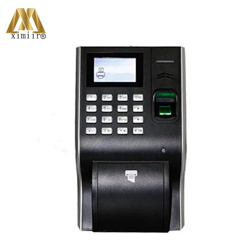 LP400 High Quality Biometric Fingerprint Time Attendance Thermal Printer 13.56MHz IC Card Time Recording