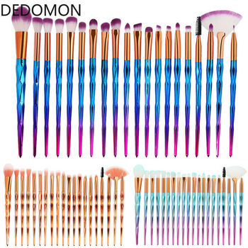 20Pcs Diamond Makeup Brushes Set Powder Foundation Blush Blending Eye shadow Lip Cosmetic Beauty Make Up Brush pincel maquiagem 10pcs professional makeup brushes set powder foundation eye shadow beauty face blusher cosmetic brush blending tools