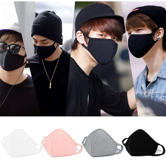 10Pcs Cotton Mouth Mask Anti Dust Pollution Washable Face Masks Reusable windproof effortless breathable 3 layer filter 3