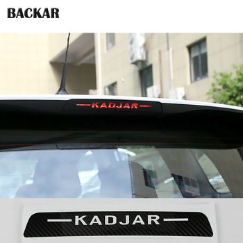 Car-styling 3d Carbon Fiber Emblems Stickers For Renault kadjar 2015 2016 2017 2018 Auto High Stop Brake Light Lamps Accessories image