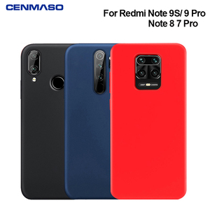 For Redmi Note 9S 9 8 8T 7 Pro Case Liquid Silicone Soft Cover for Xiaomi Mi Note 10 9 9T 8 SE A2 Lite Redmi K20 K30 Pro 8A Case(China)