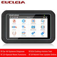 EUCLEIA S7C OBD2 escáner automotriz Sistema completo ABS EPB SAS DPF servicio de aceite reinicio OBD 2 lector de código PK MK808 herramienta de diagnóstico de coche