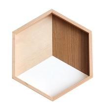 Простой шестигранный деревянный сплайсинга деревянная пластина украшения выпечки лоток чай поддон для хранения продуктов размещенная тарелка домашний Ресторан Кухня Uten