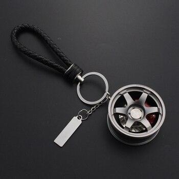 Car Keychain Aluminum Alloy Rim Model RAYS TE37 Wheel Keyring For Auto Accessories Moto Key Ring For Keys Key Chains Trinket