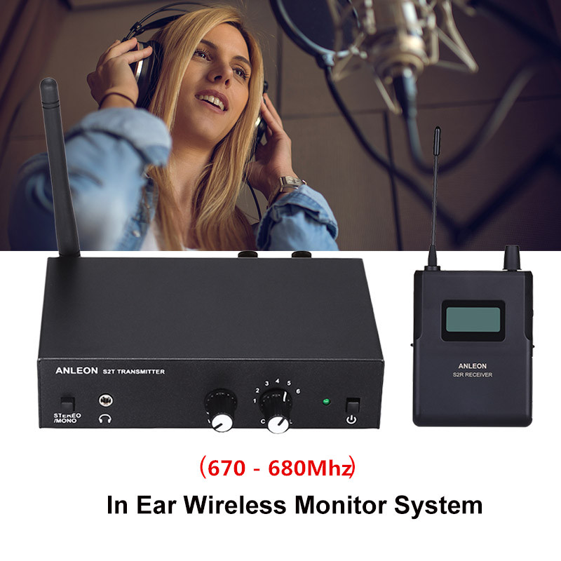 For ANLEON S2 Stereo Wireless Monitor System Wireless Earphone Microphone Transmitter System 670-680MHZ NTC Antenna Xiomi