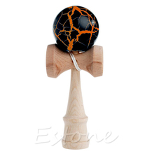 Hot Crack Pattern Paint Toy Bamboo Kendama Best Wooden Educational Toys Kids Toy