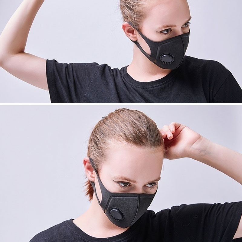 Pollution Reusable Anti Air Dust PM2.5 Mask Adjustable Straps Washable Respirator