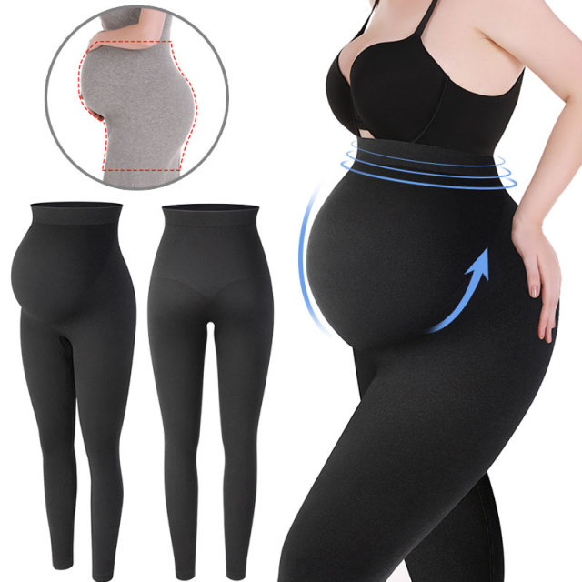 Maternity Leggings High Waist Pregnant Belly Support Legging Women Pregnancy Skinny Pants Body Shaping Fashion Knitted Clothes 1
