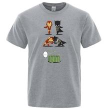 Wealthy Bruce Wayne VS Rich Tony Stark T Shirt Super Hero Iron Man Crossover Batman T-shirt Awesome Cool Tops Cotton Tee shirt