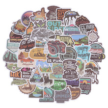 50 PCS/Pack Outdoor Camping Adventure Climbing Travel Waterproof Sticker Motorcycle Bicycle Luggage Helmet Stickers