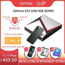 Intel Gaming Mini PC Core i9 9980HK i7 9750H i5 9300H Nvidia GTX 1650 4GB gioco Desktop 2 * DDR4 64GB Windows 10 4K DP HDMI AC WiFi