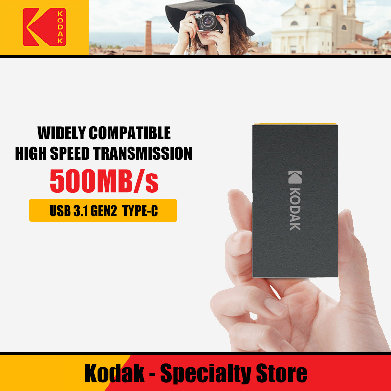 Kodak X250 внешний SSD жесткий диск 120G 240GB Портативный внешний твердотельный накопитель 960GB USB 3,1 Gen2 hdd для ноутбука с типом C