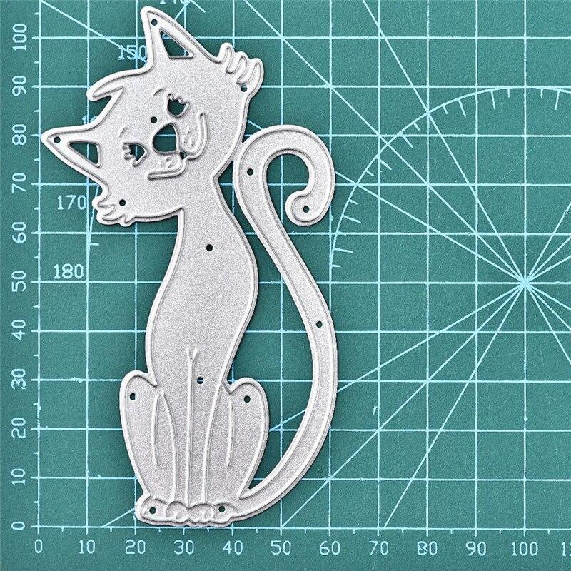 Cat Metal Cutting Dies Craft Die Cut Embossing Card Making Scrapbooking Stencil