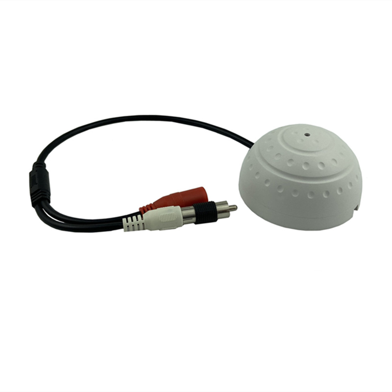 MIC Sound Pickup Microphone RCA For IP Audio Camera Sensitivity Adjust Double Gain DC 6-12V For 5-50㎡ Surveillance Special