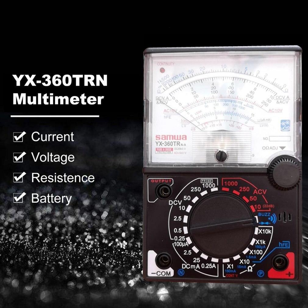 YX-360TRn аналоговый мультиметр пластиковый измерительный прибор Shell AC DC Volt ток Ома тестирование мультиметра Электрический указатель мультите...