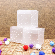 10pcs PVC Square Transparent Clear Dot Candy Box Chocolate Package Gift Box Cube For Wedding Birthday Christmas Party Decor(China)