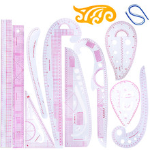 LMDZ 6/7/8/12Pcs Practical Sewing French Curve Cutting Ruler Measure Dressmaking Tailor Cutting Craft Scale Rule Drawing Tool