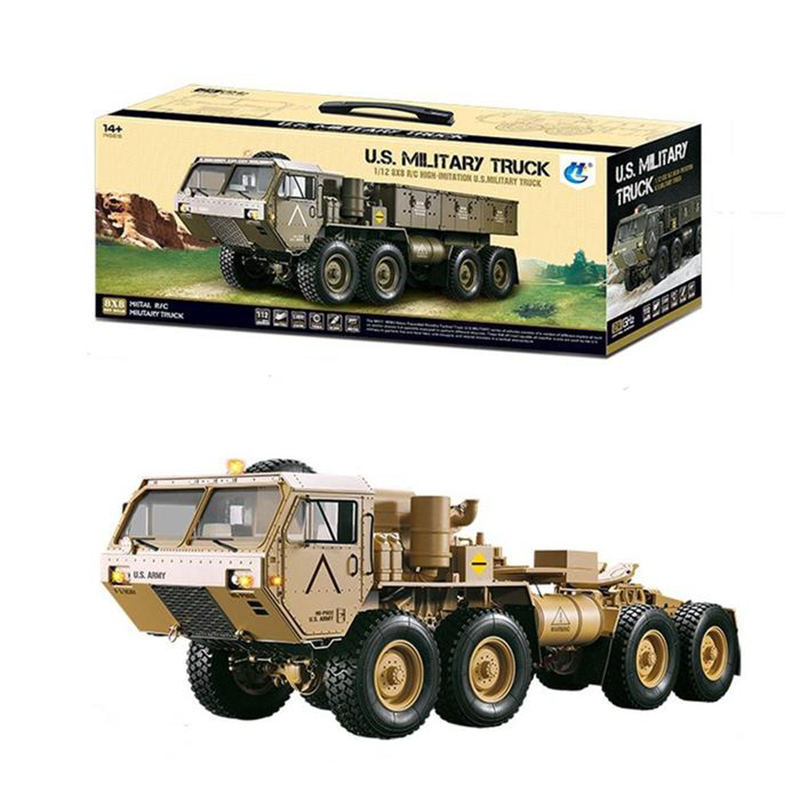 Methanol Gas Powered Military Truck Off-road Vehicle 1:12 8x8 R/C 2.4G High Horse Horsepower